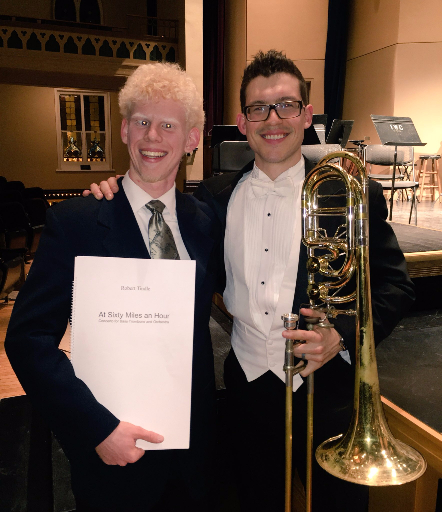 With Composer, Robert Tindle