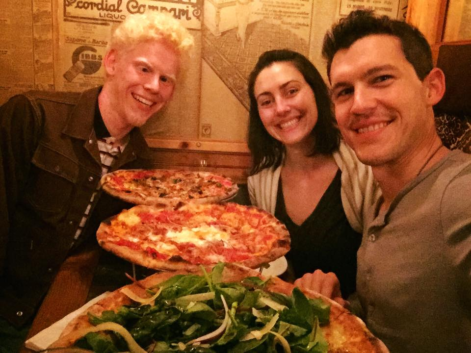 Pizza with Robert and my wife Caroline in Chicago