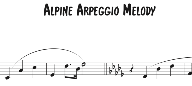 Alpine Symphony Arpeggio Sequence