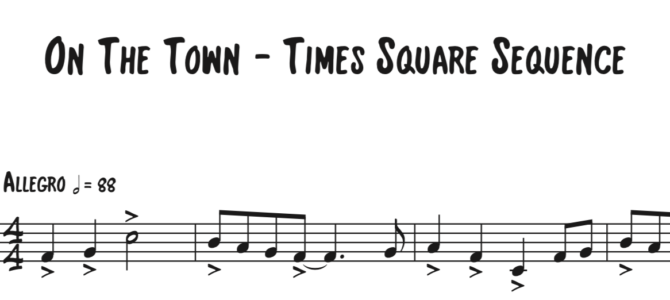 On the Town – Times Square Sequence