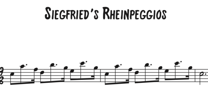 Siegfried's Rhinepeggios Sequence