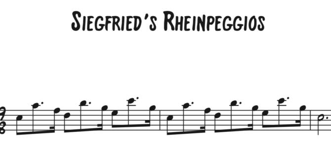 Siegfried's Rhinepeggios Sequence