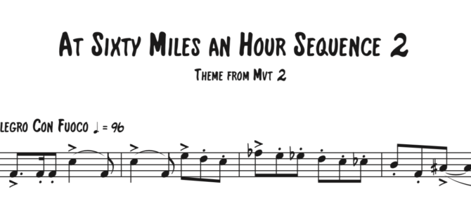 At Sixty Miles an Hour Sequence 2