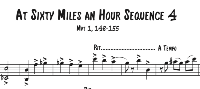 At Sixty Miles an Hour Sequence 4