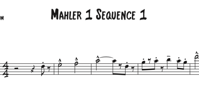 Mahler 1 Sequence 1