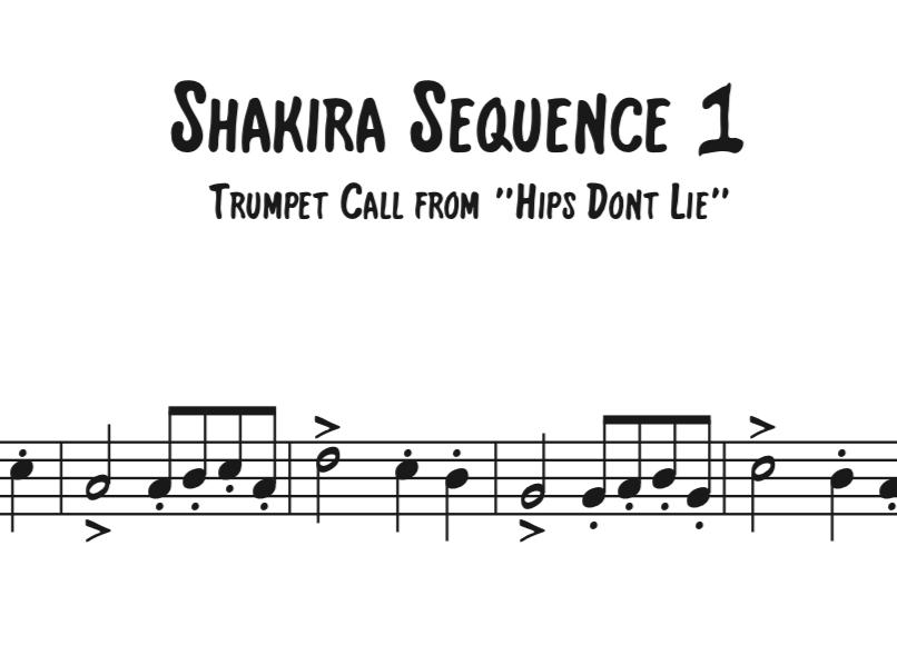 Shakira Sequence 1 - WillBakerMusic