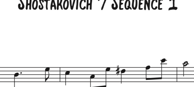 Shostakovich 7 Sequence 1