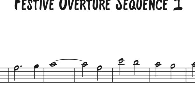 Shostakovich – Festive Overture Sequence 1