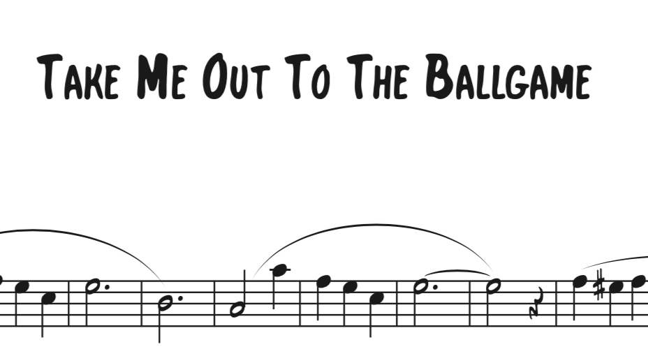 Take Me Out To The Ball Game Sequence Willbakermusic