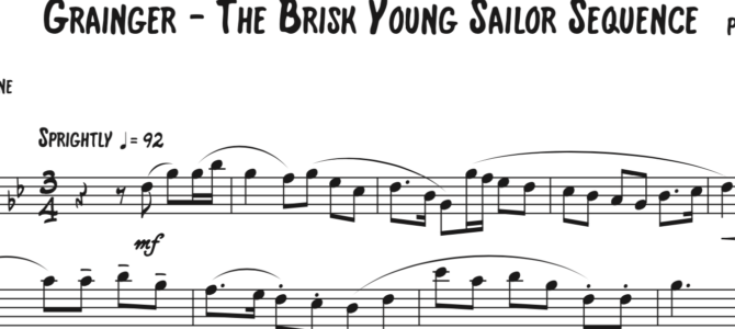 Grainger – The Brisk Young Sailor Sequence