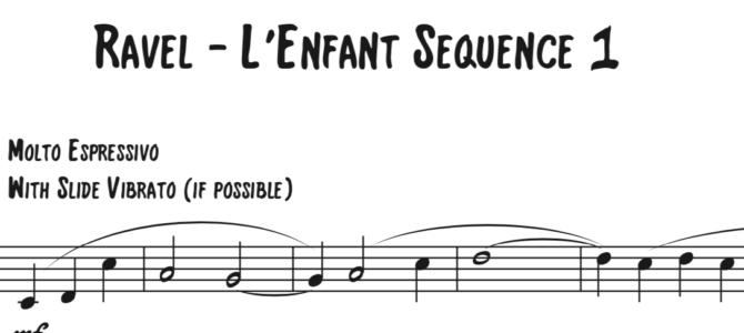 Ravel – L'Enfant et les sortilèges Sequence