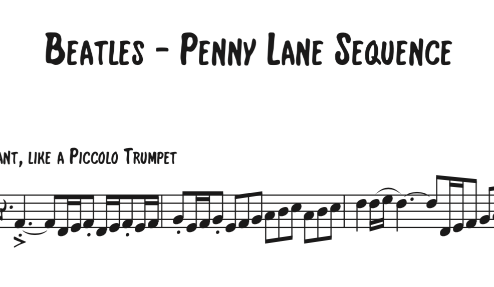 The Beatles - Penny Lane Sequence - WillBakerMusic