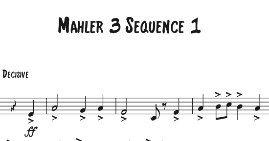 Mahler – Symphony 3 Sequence featuring Josh Johnson