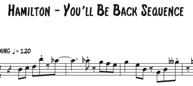 Miranda – You'll Be Back Sequence (from Hamilton)